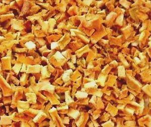 dried orange peels diced